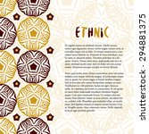 vector decoration with ethnic... | Shutterstock .eps vector #294881375