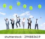 business people humor balloon...   Shutterstock . vector #294883619