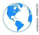 earth globe symbol   Shutterstock .eps vector #294883757