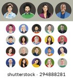 diverse people multiethnic... | Shutterstock . vector #294888281