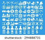business icon set. these flat... | Shutterstock .eps vector #294888731