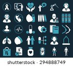 medical icon set. these flat... | Shutterstock .eps vector #294888749