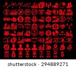 business icon set. these flat... | Shutterstock .eps vector #294889271