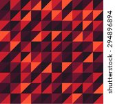 retro pattern of geometric... | Shutterstock .eps vector #294896894