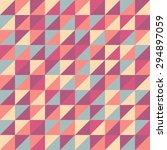 retro pattern of geometric... | Shutterstock .eps vector #294897059