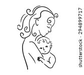 mother and child vector...   Shutterstock .eps vector #294899717
