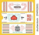 vintage circus banner... | Shutterstock .eps vector #294902831