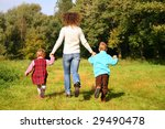 mother with children run in... | Shutterstock . vector #29490478