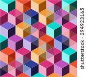 abstract colorful geometric... | Shutterstock .eps vector #294923165
