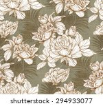 graphic hand drawn flowers... | Shutterstock . vector #294933077