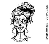 vector black and white zombie... | Shutterstock .eps vector #294938231
