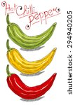chili pepper | Shutterstock .eps vector #294940205