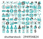 business icon set. these flat...   Shutterstock .eps vector #294954824