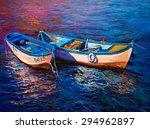 Original Oil Painting  Fishing...
