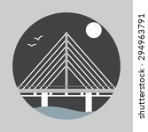 bridge flat icon. bridge over...   Shutterstock .eps vector #294963791