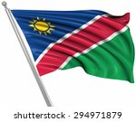 flag of namibia   isolated on... | Shutterstock . vector #294971879