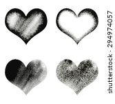 hand drawn sketch hearts for... | Shutterstock .eps vector #294974057