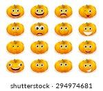 cute halloween pumpkin... | Shutterstock .eps vector #294974681