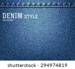 Denim  Blue Jeans Texture With...