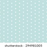 beautiful vector hearts pattern ... | Shutterstock .eps vector #294981005