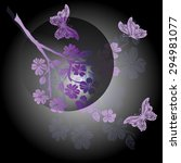 twig sakura and butterfly are... | Shutterstock .eps vector #294981077