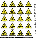 set of safety signs. caution... | Shutterstock .eps vector #294981791