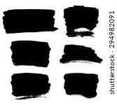 set of grunge vector textured... | Shutterstock .eps vector #294982091