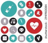 flat design icons for medical.... | Shutterstock .eps vector #294983084