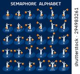 semaphore alphabet flags on a... | Shutterstock .eps vector #294983261