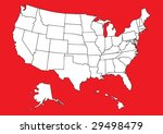 map of us with flag | Shutterstock .eps vector #29498479