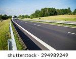 empty asphalt expressway with... | Shutterstock . vector #294989249