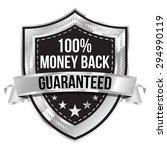 chrome 100  money back...   Shutterstock .eps vector #294990119