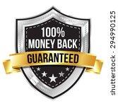 chrome 100  money back... | Shutterstock .eps vector #294990125