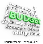 budget 3d word collage for...   Shutterstock . vector #295003121