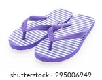Flip Flop Isolated On White...