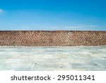 Brick Wall With Blue Sky...