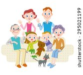 family three generations gather ... | Shutterstock .eps vector #295021199
