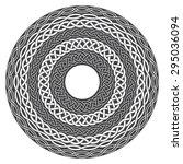 mandala in esoteric style. set... | Shutterstock .eps vector #295036094