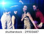 attractive friends dancing at a ... | Shutterstock . vector #29503687