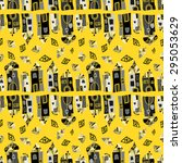 seamless vector pattern with ... | Shutterstock .eps vector #295053629