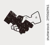handshake doodle | Shutterstock . vector #295060961