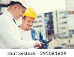 business  building  teamwork ... | Shutterstock . vector #295061639