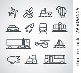 different transport icons... | Shutterstock .eps vector #295066559