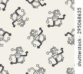 mobile medea link doodle... | Shutterstock . vector #295068635