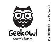geek owl vector logo template | Shutterstock .eps vector #295071974