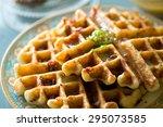 gourmet breakfast and brunch... | Shutterstock . vector #295073585