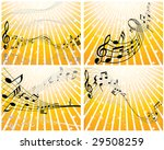 set of four vector musical... | Shutterstock .eps vector #29508259