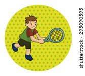 tennis player theme elements... | Shutterstock .eps vector #295090595
