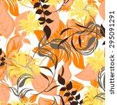 floral seamless pattern  ... | Shutterstock .eps vector #295091291