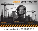 building under construction... | Shutterstock .eps vector #295092215